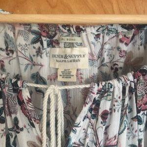 Ralph Lauren floral boho / peasant top